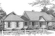 Traditional Style House Plan - 3 Beds 2 Baths 1765 Sq/Ft Plan #14-118 Exterior - Front Elevation