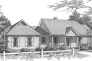 House Plan Design - Traditional Exterior - Front Elevation Plan #14-118