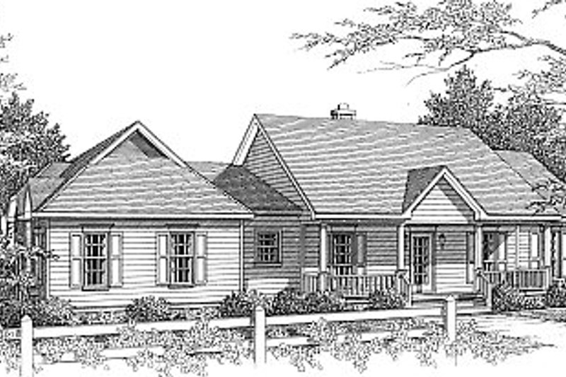 Architectural House Design - Traditional Exterior - Front Elevation Plan #14-118