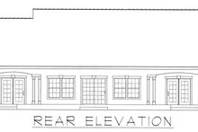 Country Exterior - Rear Elevation Plan #112-163