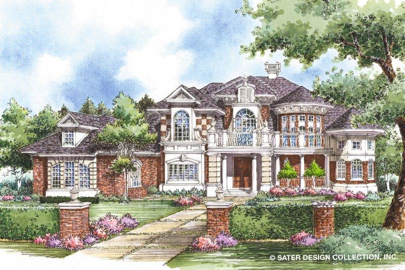 Architectural House Design - Mediterranean Exterior - Front Elevation Plan #930-257