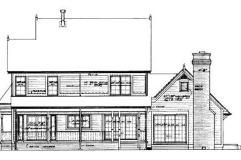 Victorian Exterior - Rear Elevation Plan #72-146 - Houseplans.com