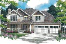 Craftsman Exterior - Front Elevation Plan #48-379