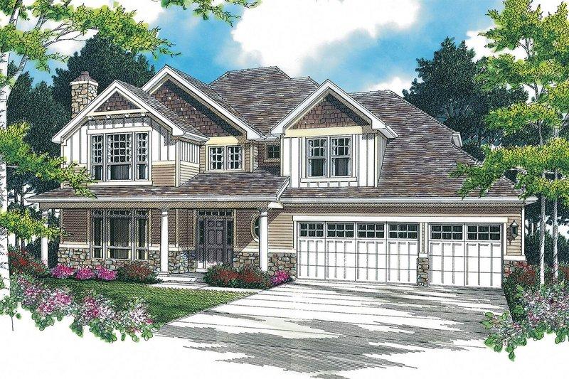 Craftsman Exterior - Front Elevation Plan #48-379 - Houseplans.com