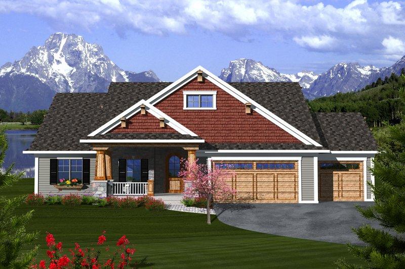 Ranch Exterior - Front Elevation Plan #70-1112 - Houseplans.com