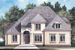 Colonial Exterior - Front Elevation Plan #119-132