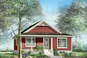 Cottage Exterior - Front Elevation Plan #25-4735
