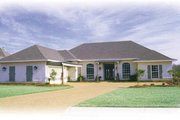 Southern Style House Plan - 4 Beds 2.5 Baths 2442 Sq/Ft Plan #36-214 Exterior - Front Elevation