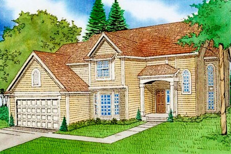 Traditional Exterior - Front Elevation Plan #405-149 - Houseplans.com