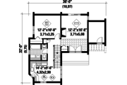 Contemporary Style House Plan - 3 Beds 1 Baths 1044 Sq/Ft Plan #25-2135 Floor Plan - Main Floor Plan