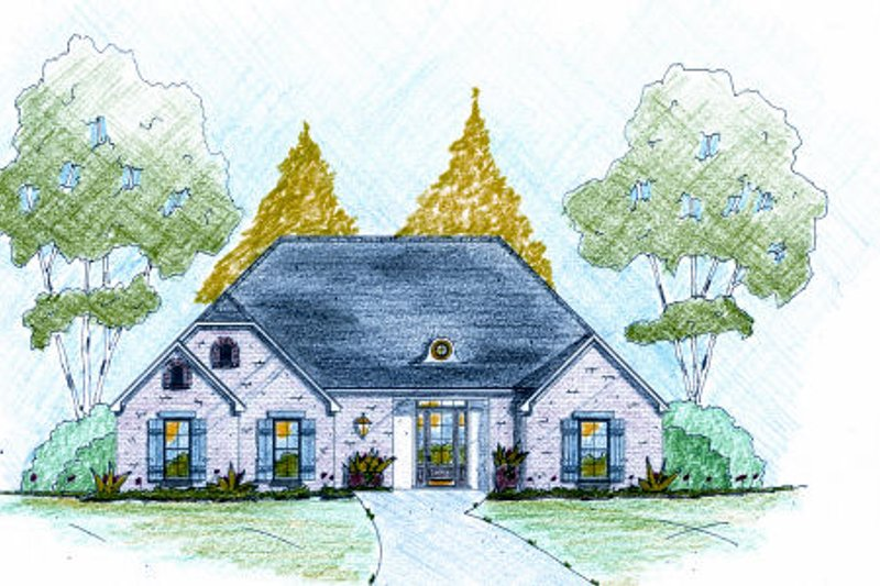 European Exterior - Front Elevation Plan #36-500