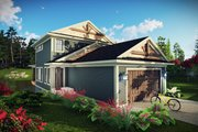 Craftsman Style House Plan - 3 Beds 3.5 Baths 1836 Sq/Ft Plan #70-1492 Exterior - Front Elevation