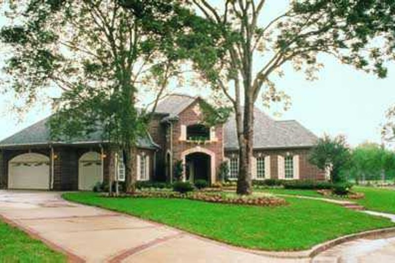 European Exterior - Front Elevation Plan #72-195 - Houseplans.com