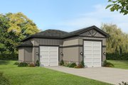 Craftsman Style House Plan - 0 Beds 0 Baths 1067 Sq/Ft Plan #932-377 Exterior - Front Elevation