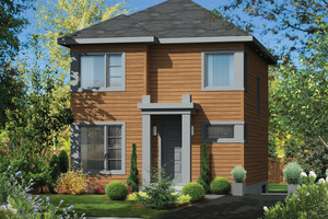 Contemporary Exterior - Front Elevation Plan #25-4505