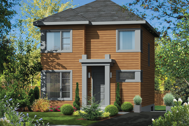 Contemporary Style House Plan - 3 Beds 1 Baths 1192 Sq/Ft Plan #25-4505 Exterior - Front Elevation