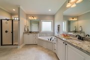 Ranch Style House Plan - 4 Beds 2 Baths 1889 Sq/Ft Plan #430-182 Interior - Master Bathroom