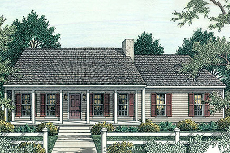 Southern style Plan 406-132 front elevation