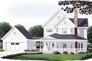 Country Exterior - Front Elevation Plan #410-118