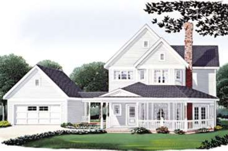 House Design - Country Exterior - Front Elevation Plan #410-118