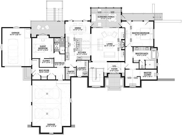 House Plan Design - Cottage Floor Plan - Main Floor Plan #928-336