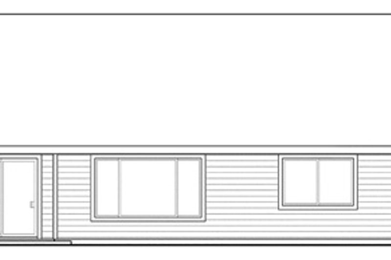Ranch Exterior - Rear Elevation Plan #124-855 - Houseplans.com