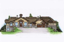 Home Plan - Traditional Exterior - Front Elevation Plan #5-344