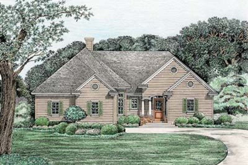 Traditional Exterior - Front Elevation Plan #20-520
