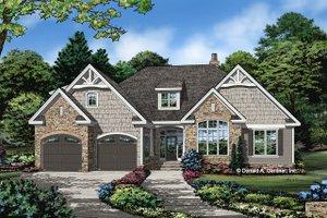 Cottage Exterior - Front Elevation Plan #929-1098