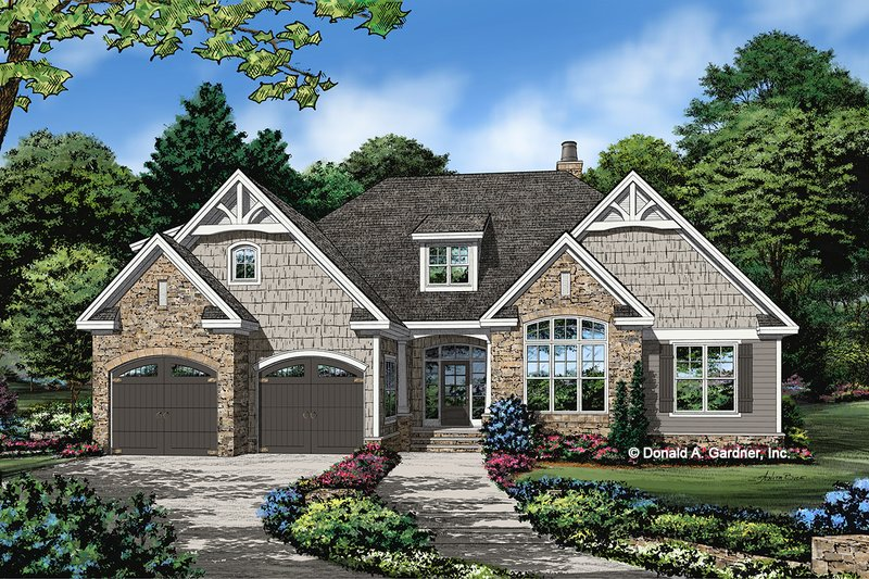 Architectural House Design - Cottage Exterior - Front Elevation Plan #929-1098
