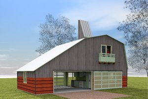 Farmhouse modern designed home, front elevation
