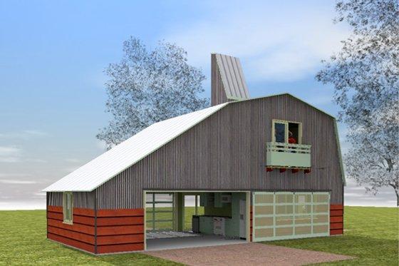 Farmhouse modern designed home, front elevation