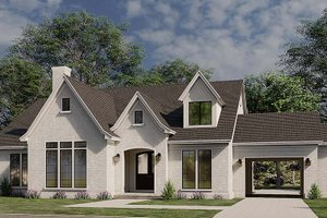 House Blueprint - European Exterior - Front Elevation Plan #923-184