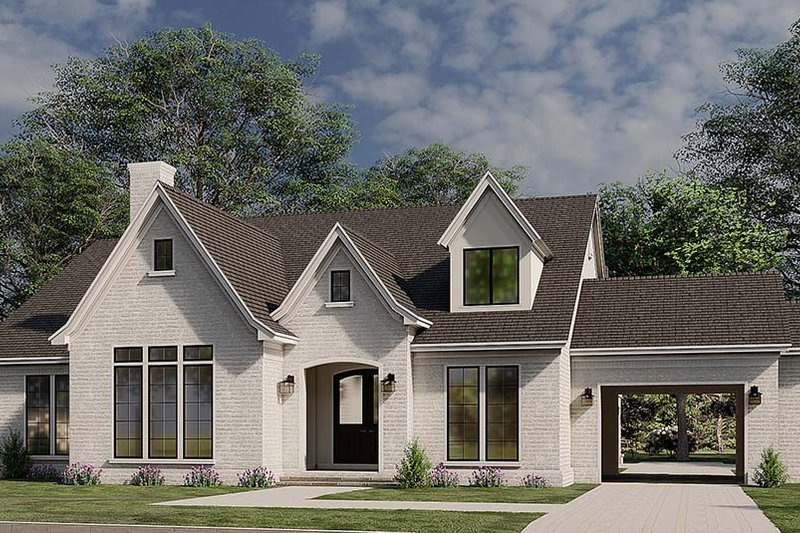 Architectural House Design - European Exterior - Front Elevation Plan #923-184
