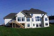 European Style House Plan - 5 Beds 4.5 Baths 4126 Sq/Ft Plan #70-548 Exterior - Rear Elevation