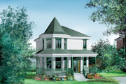 Victorian Style House Plan - 3 Beds 1.5 Baths 1444 Sq/Ft Plan #25-2032 Exterior - Front Elevation