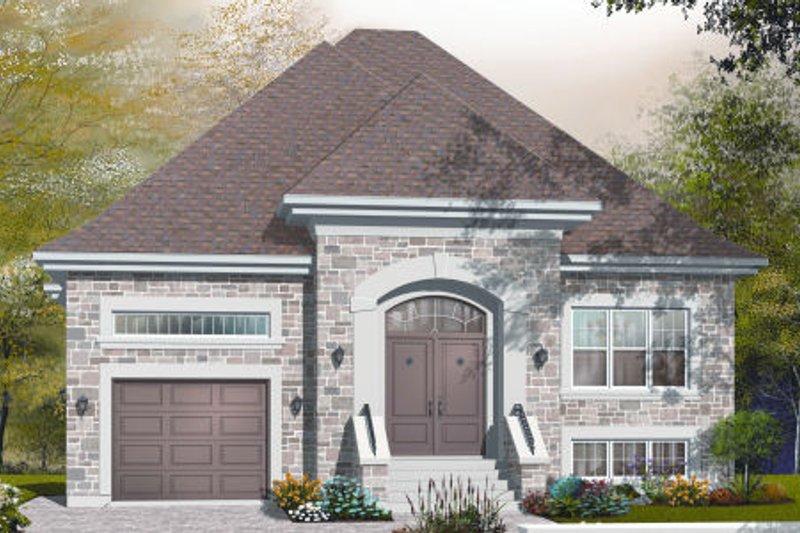 Dream House Plan - European Exterior - Front Elevation Plan #23-2230