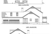 Southern Style House Plan - 5 Beds 3.5 Baths 3394 Sq/Ft Plan #17-227 Exterior - Rear Elevation