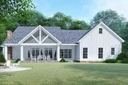 Country Style House Plan - 3 Beds 2.5 Baths 2031 Sq/Ft Plan #923-129 Exterior - Rear Elevation