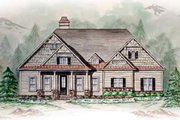 Southern Style House Plan - 3 Beds 3 Baths 4172 Sq/Ft Plan #54-105 Exterior - Other Elevation