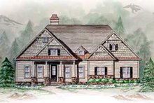Home Plan - Southern Exterior - Other Elevation Plan #54-105