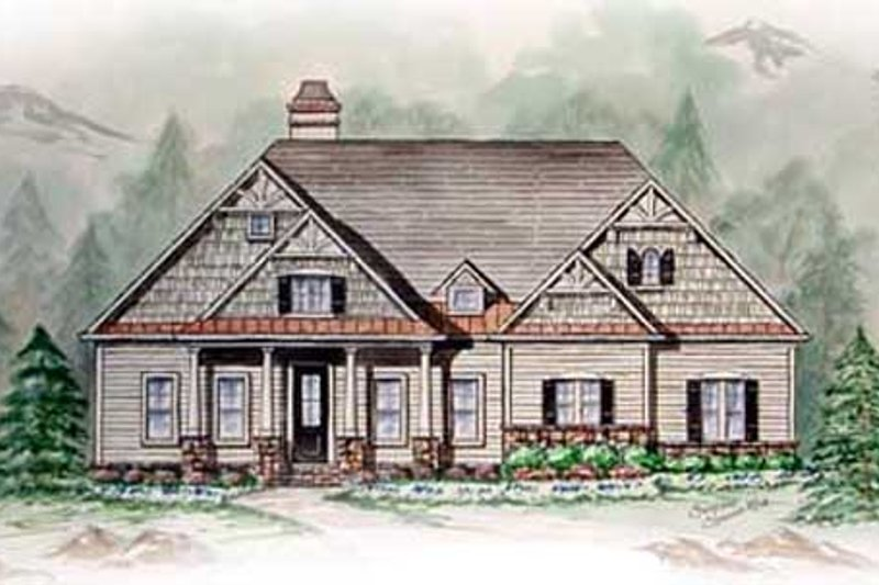 Southern Exterior - Other Elevation Plan #54-105 - Houseplans.com