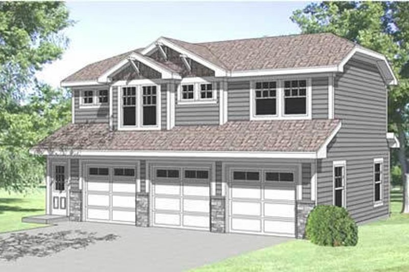Traditional Style House Plan - 1 Beds 1 Baths 723 Sq/Ft Plan #116-130 Exterior - Front Elevation