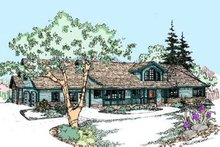 Home Plan Design - Traditional Exterior - Front Elevation Plan #60-287
