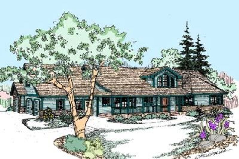 Traditional Style House Plan - 4 Beds 2 Baths 2514 Sq/Ft Plan #60-287 Exterior - Front Elevation