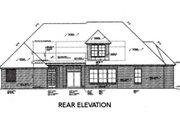 European Style House Plan - 3 Beds 2.5 Baths 2205 Sq/Ft Plan #310-357 Exterior - Rear Elevation