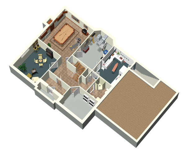 European Floor Plan - Lower Floor Plan #25-4665