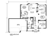 Traditional Style House Plan - 4 Beds 2.5 Baths 3616 Sq/Ft Plan #320-500 Floor Plan - Main Floor Plan