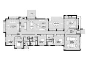 Modern Style House Plan - 4 Beds 2.5 Baths 2875 Sq/Ft Plan #496-23 Floor Plan - Main Floor Plan