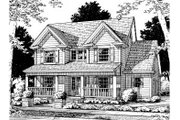 Traditional Style House Plan - 3 Beds 2.5 Baths 1682 Sq/Ft Plan #20-316 Exterior - Front Elevation